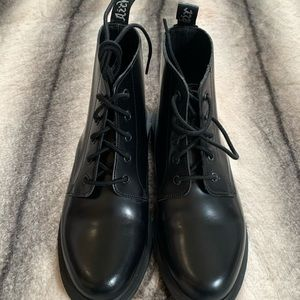 { Dr. Martens } Emmeline Smooth Boot Black